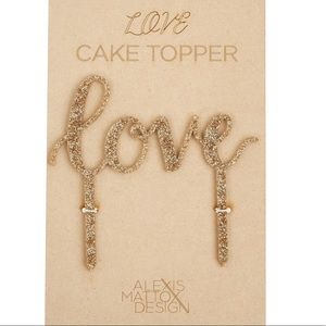 alexis mattox design j crew other love cake topper poshmark